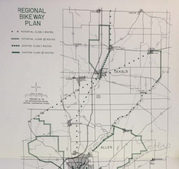 Regional Bikeway Plan Map-1970s