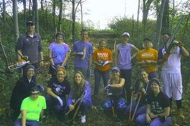 Volunteer clean-up crew