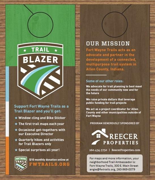 Trail Ambassador Door Hanger