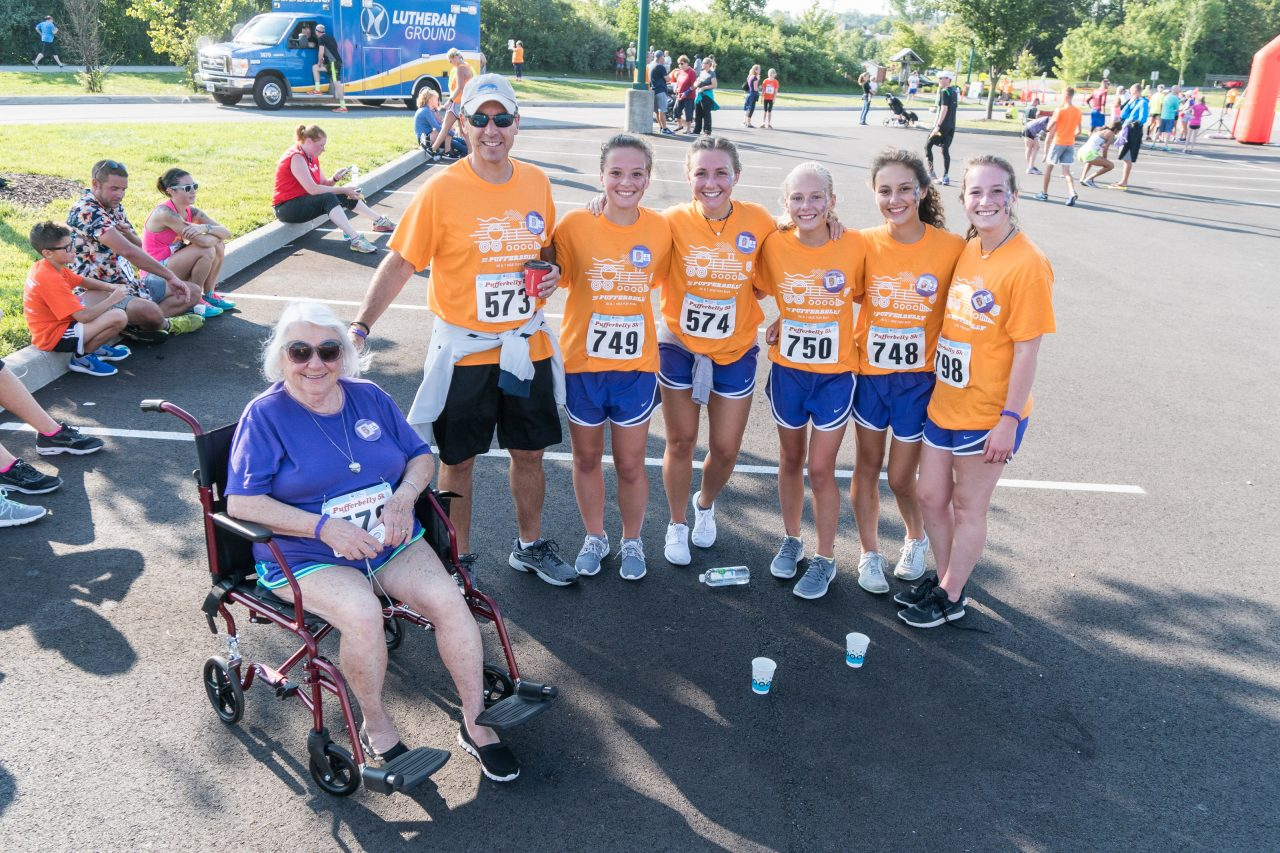 Team photo, including wheelchair participant