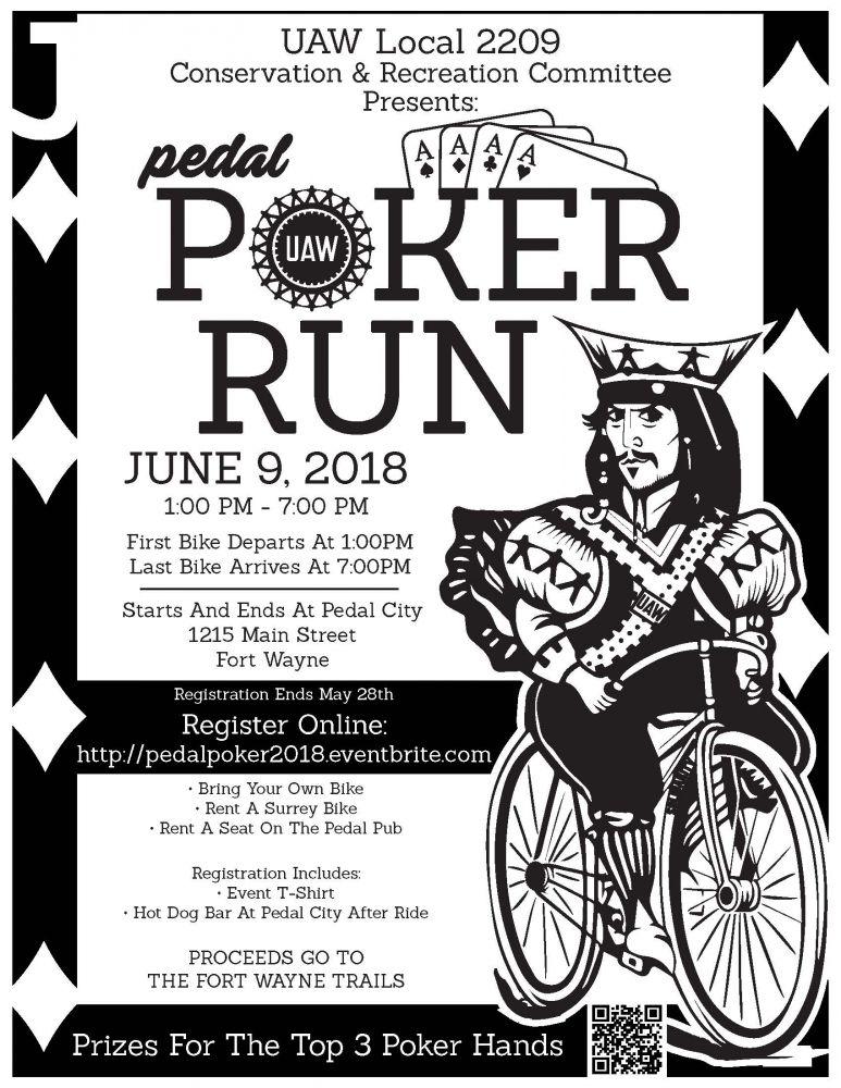 Pedal Poker Run 2018 Poster